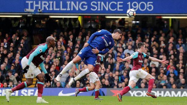 Alvaro Morata gagal memnafaatkan peluang yang dimiliki.