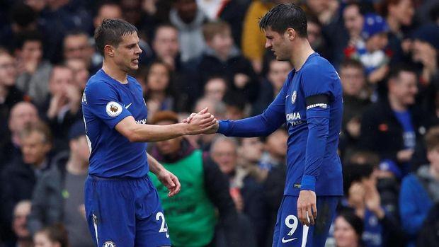 Chelsea unggul lebih dulu di babak pertama lewat gol Cesar