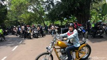Video Jokowi Touring Naik Chopper ke Palabuhanratu