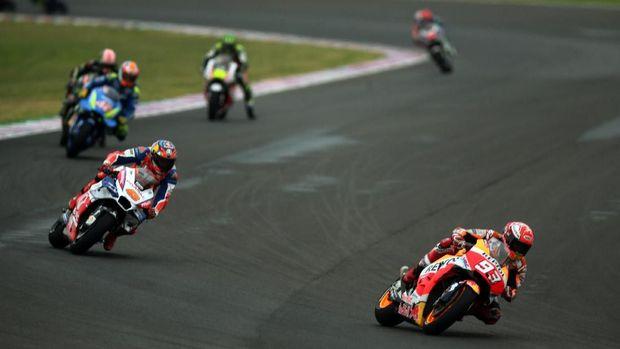 Marc Marquez tampil sangat agresif di MotoGP Argentina.