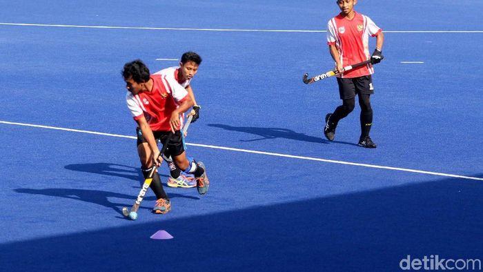 Timnas Hoki Indonesia dilarang bertanding di SEA Games 2019. (Foto: Grandyos Zafna/detikSport)