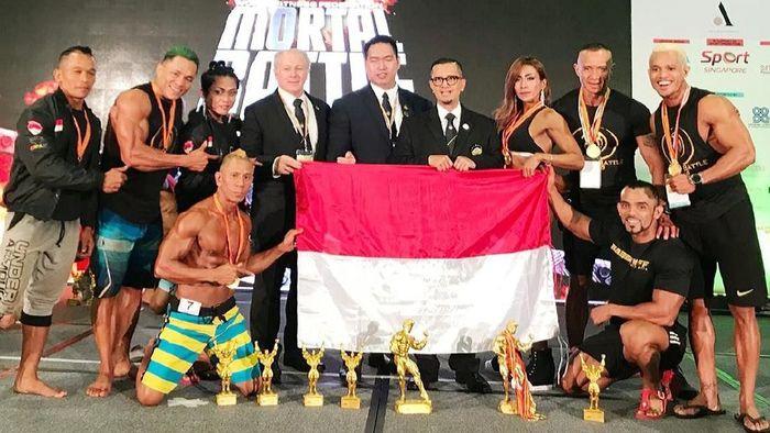 Tujuh atlet binaraga Indonesia meraih medali di Singapura (Foto: dok. Perbafi)