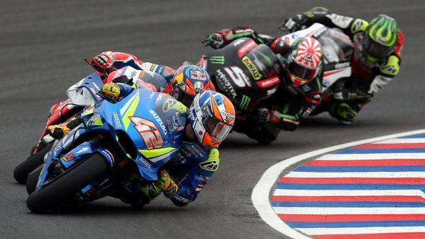 Alex Rins tiga kali gagal finis di MotoGP 2018.