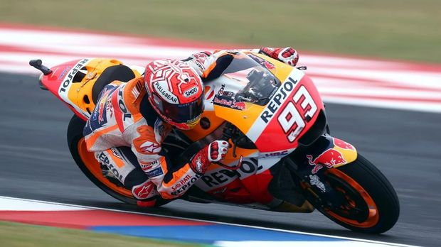 Marc Marquez sempat mengalami kecelakaan di tikungan 13 pada babak kualifikasi MotoGP Amerika Serikat.
