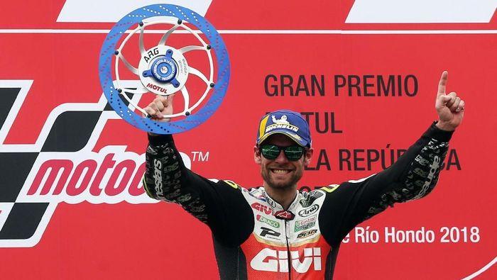 Cal Crutchlow merupakan satu dari 12 juara dunia di MotoGP 2019. Crutchlow adalah juara dunia Supersports pada 2006 silam. (Foto: Marcos Brindicci/Reuters)