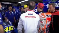 Video Situasi Panas Marquez Dihadang Temui Rossi di Paddock