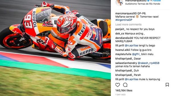 Instagram Marc Marquez Banjir Hujatan Netizen Indonesia