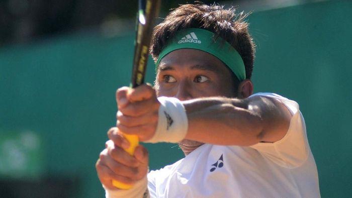 Christopher Rungkat akan jadi andalan Indonesia di Asian Games 2018. (Dwi Ari P for detikSport)