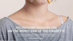 Pesan-pesan kreatif berikut ini diharapkan mampu membuat seseorang berhenti merokok.