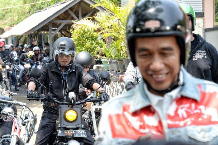 Budi mengaku dirinya menjadi bersemangat setelah mengikuti touring sejauh 30 kilometer di kawasan Pelabuhan Ratu, Sukabumi, Jawa Barat tersebut. Pool/Kementerian Perhubungan.