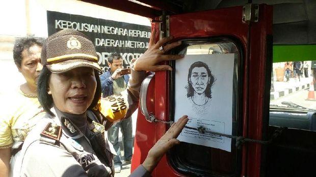 polisi sebar sketsa perampok yang melecehkan korbannya di Depok
