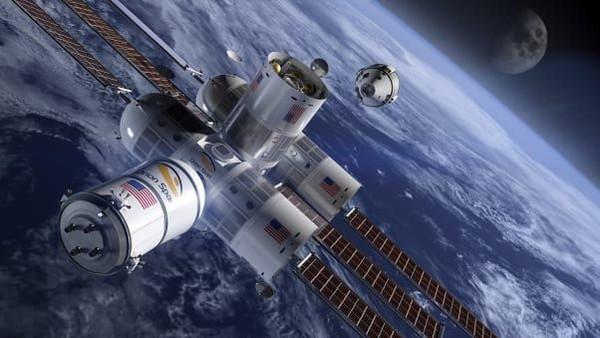 Inilah hotel di ruang angkasa termewah bernama Aurora Station. Traveler akan melihat 16 kali matahari terbit dalam satu hari jika menginap di sana (CNN Travel/Orion Span)