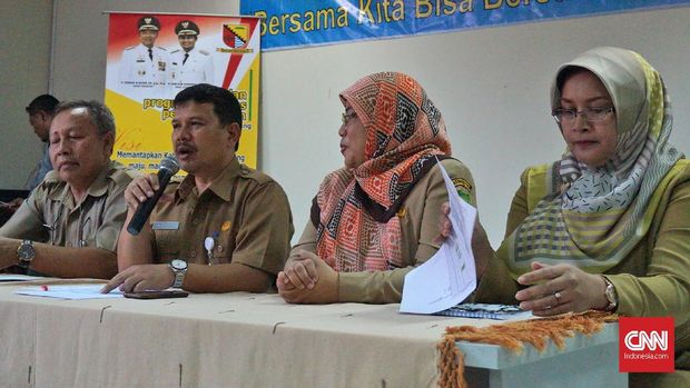 Pihak RSUD Cicalengka memberikan keterangan soal perkembangan jumlah korban, Senin (9/4).