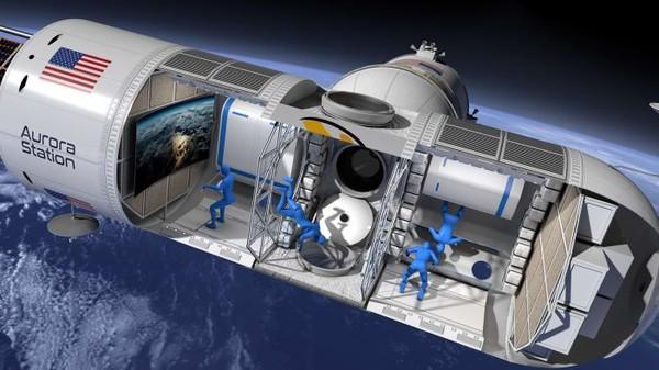 Stasiun ruang angkasa modular ini dapat menampung 6 orang termasuk 2 kru untuk menginap 12 hari. Aurora Station berencana menyambut tamu pertamanya di tahun 2022 (CNN Travel/Orion Span)