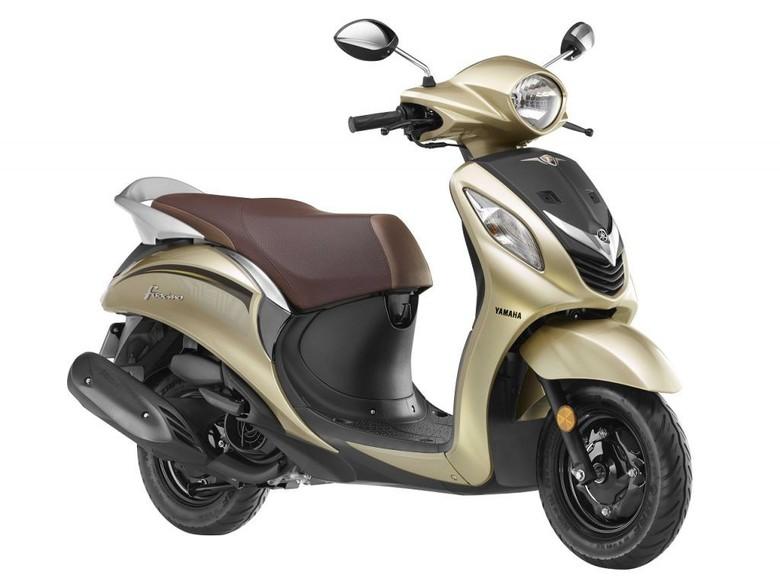Yamaha Fascino, skuter retro di India. Foto: Indianautosblog