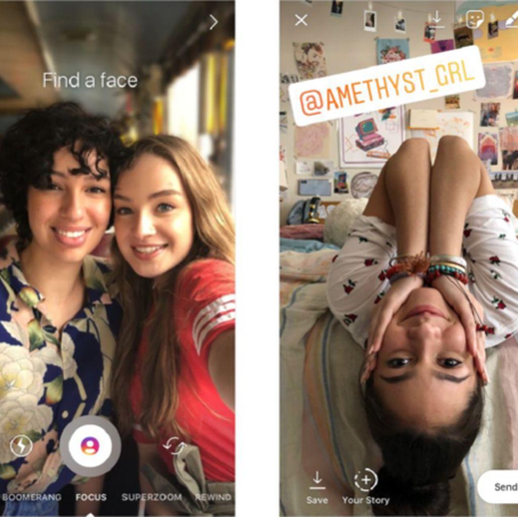Instagram Rilis Mode Bokeh dan Mention Stiker