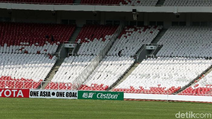 Rumput SUGBK bakal digulung usai laga Piala AFC malam ini (Rengga Sancaya/detikSport)
