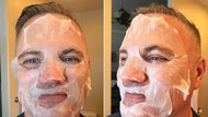 Aksi Ayah Ini Bikin Ngakak, Coba-coba Skin Care Kekinian Putrinya