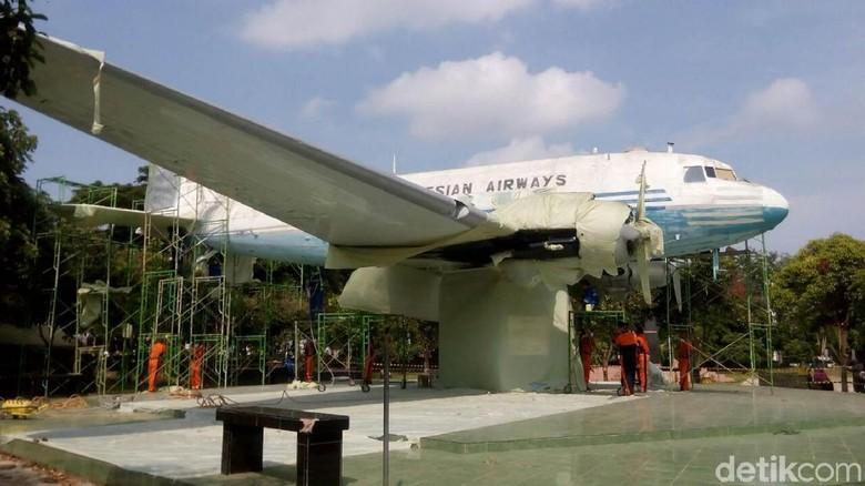 Replika Pesawat RI Pertama di Aceh Mulai Bersolek