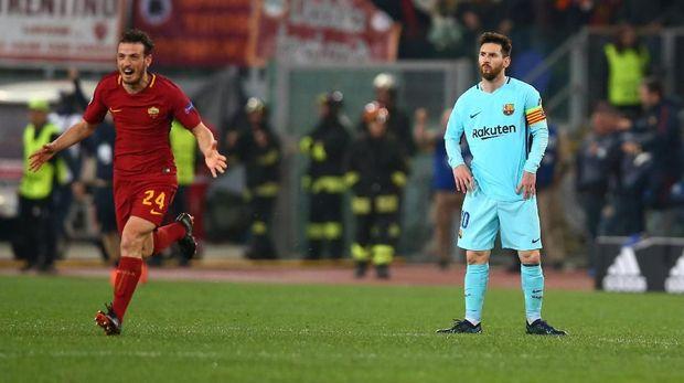 Barcelona kalah 0-3 dari Roma di Olimpico.