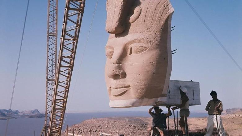 Proses pemindahan Kuil Abu Simbel Mesir (BBC Travel)