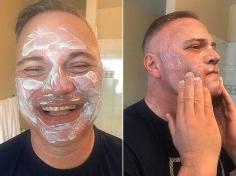 Lucunya Aksi Ayah yang Coba-coba Skin Care Kekinian Putrinya