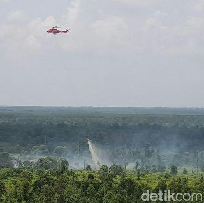 Ilustrasi Heli Water Bombing (Foto: Chaidir Anwar Tanjung/detikcom)