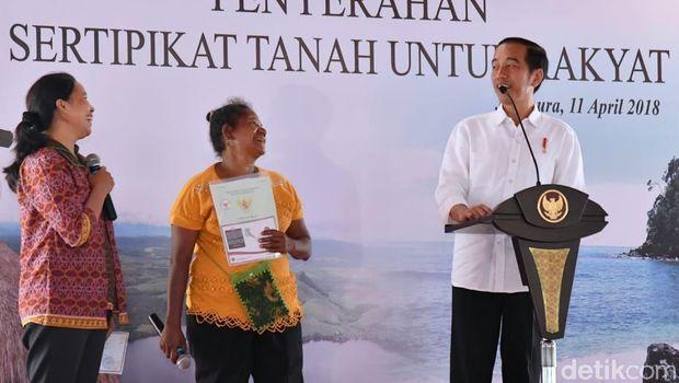 Presiden Jokowi di Jayapura, Rabu (11/4/2018)
