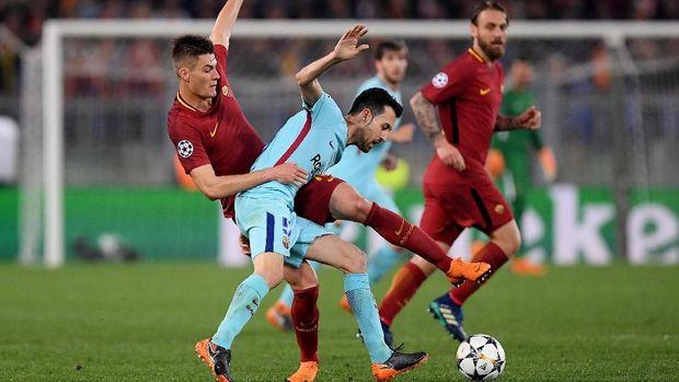 AS Roma secara mengejutkan menyingkirkan Barcelona di perempat final.