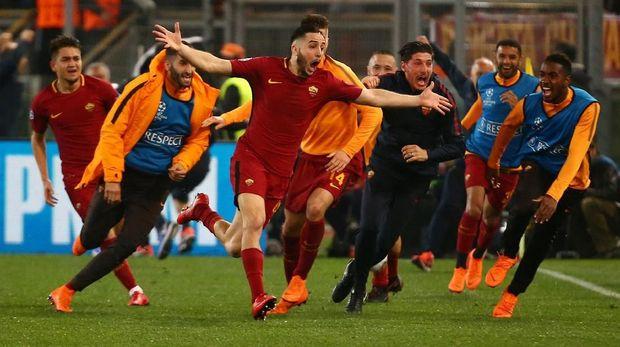Konstantinos Manolas memastikan sukses AS Roma lolos ke semifinal Liga Champions.