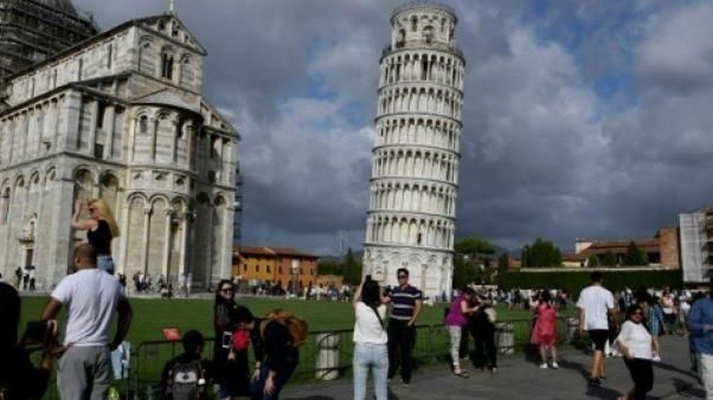 Menara Miring Pisa Kini Tak Lagi Terlalu Miring