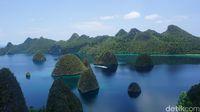 Gugusan pulau di Wayag (Shinta/detikTravel)