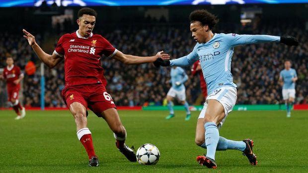 Gol Leroy Sane yang dianulir jadi titik penting untuk Liverpool.