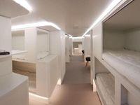Kamar tidur di dalam akrgo pesawat Airbus