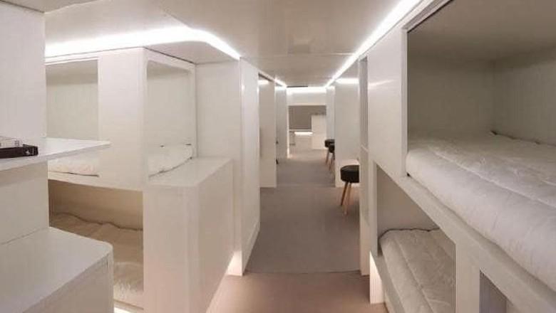 Rancangan kamar tidur di dalam kargo pesawat Airbus (Airbus)
