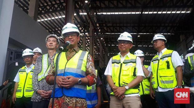 Pembangunan Fasilitas MRT Tinggal Interior-interior Stasiun