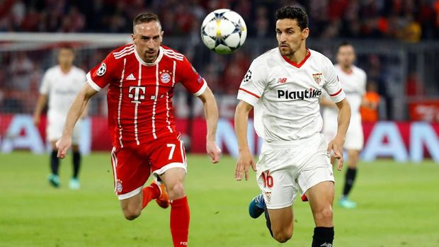 Bayern Munchen menang agregat 2-1 atas Sevilla di perempat final Liga Champions.