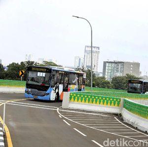 Ahok Bikin Jalur Layang TransJakarta Pertama di Jakarta