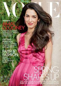 Amal Clooney di cover majalah Vogue Amerika Serikat.