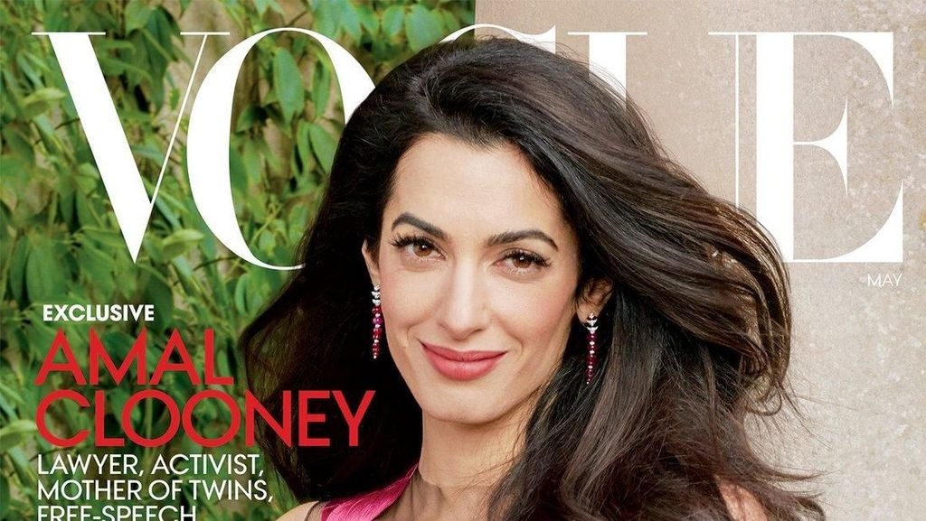 Bak Model, Amal Clooney Tebar Pesona di Cover Majalah Vogue