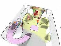 Area tempat bermain anak di kargo pesawat