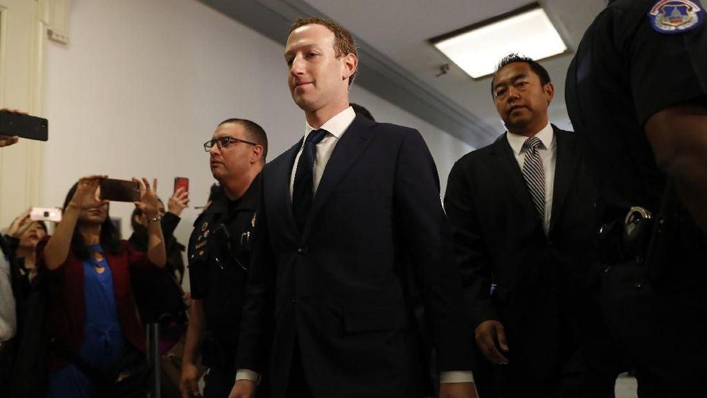 Saat Zuckerberg tiba di Capitol Hill. Foto: Reuters