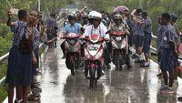 Motor Listrik Jokowi di Papua Aman Dipakai Hujan-hujanan