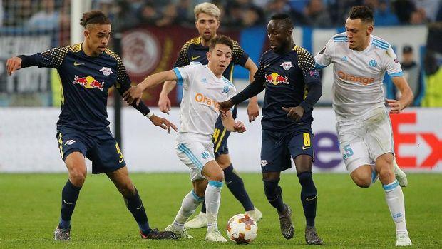 Marseille menyingkirkan Leipzig di perempat final Liga Europa.