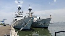 Koarmabar Sambut 2 KRI untuk Perkuat Perairan Barat RI