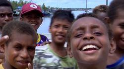 Senyum Cerah Warga Asmat, karena Papua Juga Indonesia