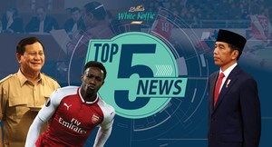 Jokowi Bicara Pencapresan Prabowo, Arsenal Lolos ke Semifinal