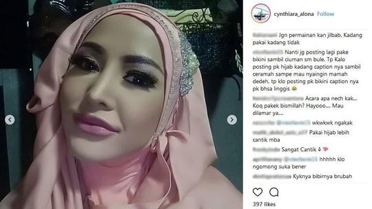 Komentar Manusia Tanpa Pori-pori di Instagram Cynthiara Alona