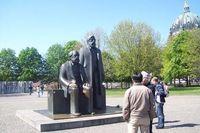 Patung Karl Marx dan Engels (Fitraya/detikTravel)