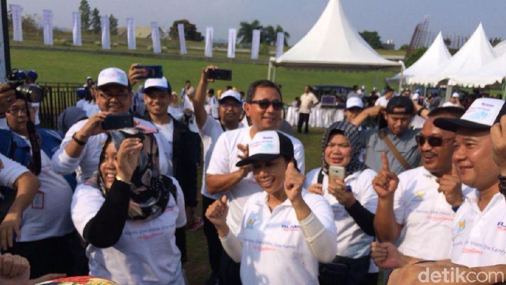 Jempol Digoyang, Rini Joget Dangdut Bareng Direksi BUMN